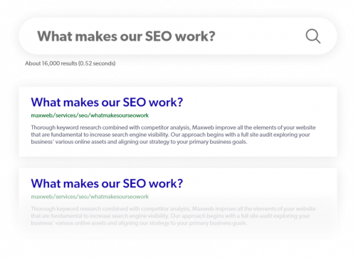 What makes our SEO work